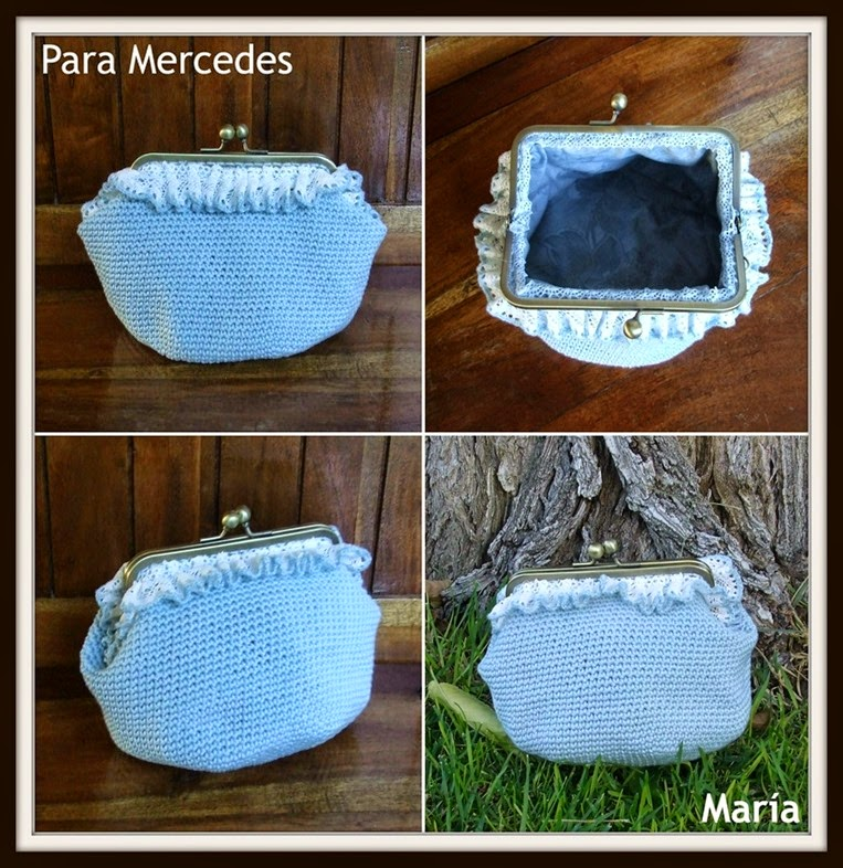 Monedero azul para Mercedes