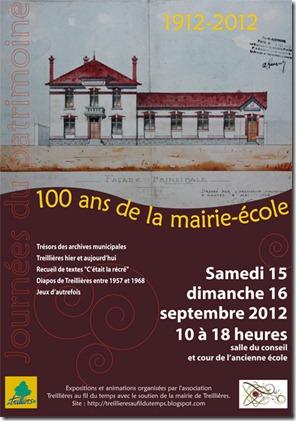 Affiche Journes du patrimoine (15-16 septembre 2012)