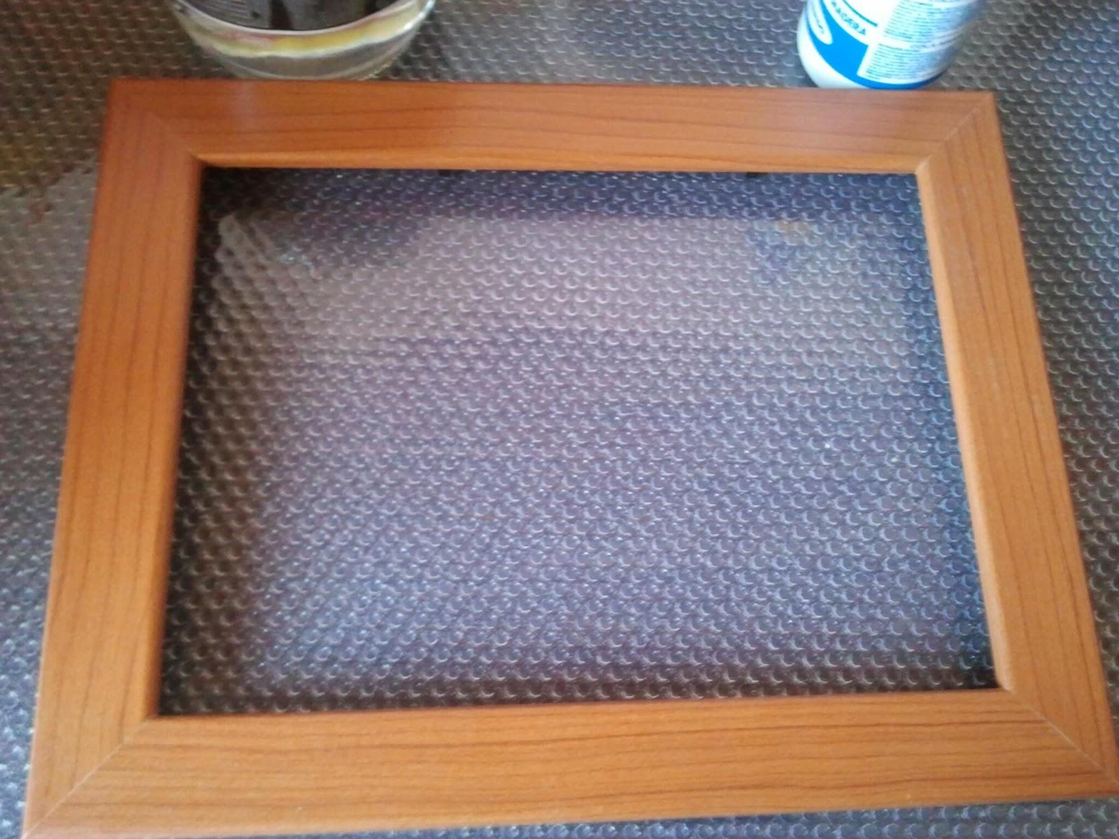 Probando, probando...: Probando DIY: Decoración fácil de un marco de ...