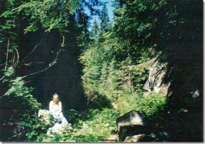 Inside the Rock Cut on the Bygone Byways Interpretive Trail in 2000
