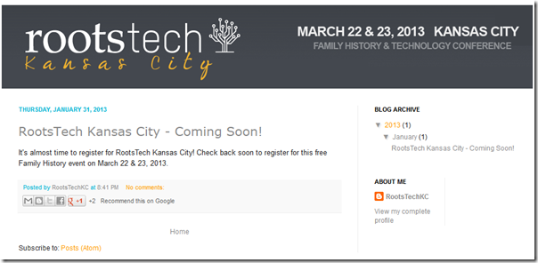 RootsTech Kansas City website