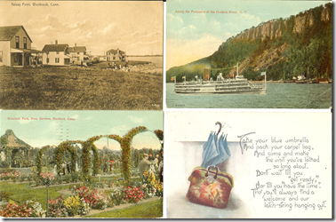 vintage summertime postcards