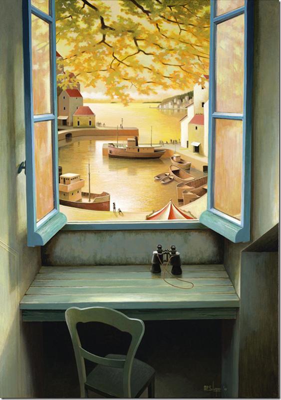 Morning in golden harbour.