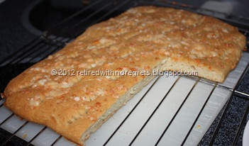 Easy Focaccia - Gluten-free - cooling just couldn't wait