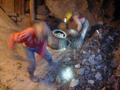 Miners at work.