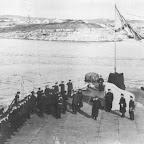 На юте броненосца Синоп в Севастополе Адмирал А.А.Эбергард принимает командование Черноморским Флотом от Адмирала И.Ф. Бострема