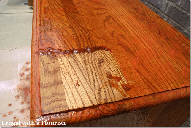 DSC08118 - Frugal With A Flourish: How To Strip And Restain A Dresser