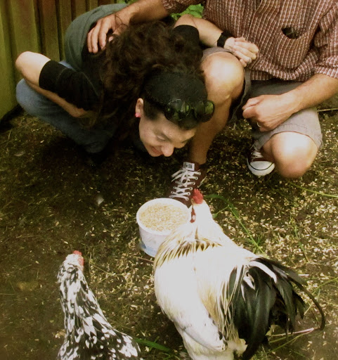 Chickens deserve kisses too!