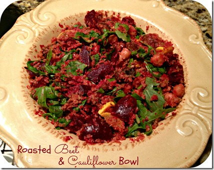 beet & cauliflower bowl