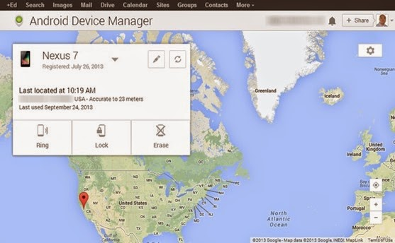 Map Android Device Manager
