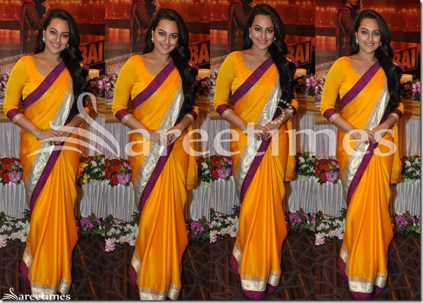 Sonakshi_Sinha_Orange_Saree