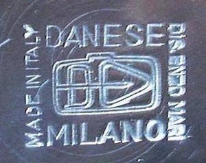Enzo Mari round container signature imprint