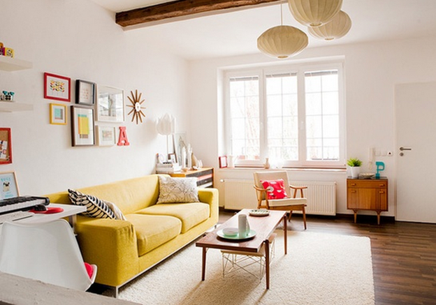 Mid-Century Modern Eclectic Living Room #MCM