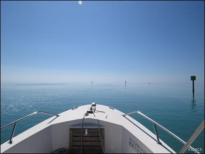 boating towards Looe Key Reef