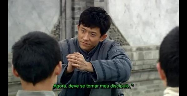 O personagem contando a história de como JC iria pedir a ele poara ser seu discipulo.