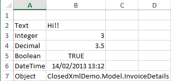 Tipos de datos en ClosedXML