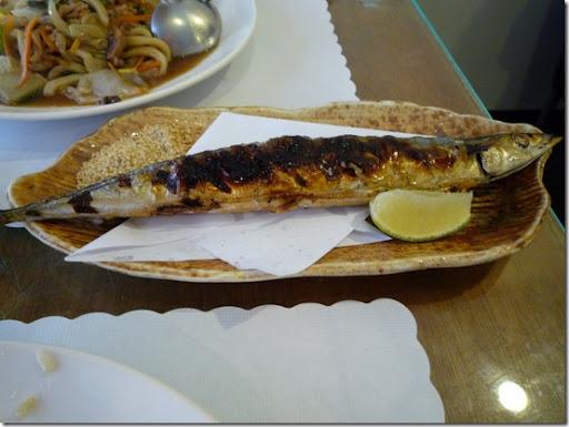 台南-金將壽司-鹽燒秋刀魚