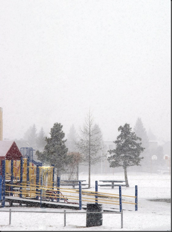 Snow in March 2012