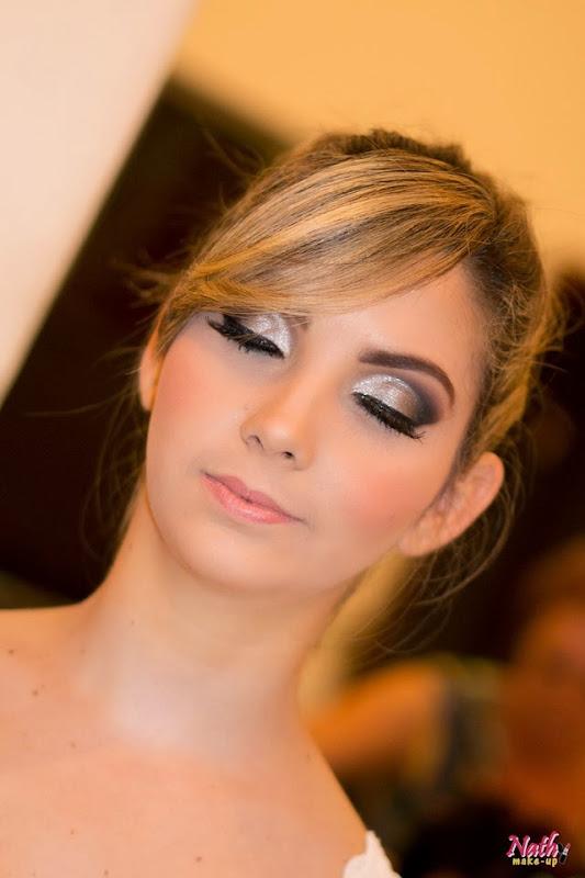 maquiagem prata para formatura