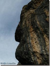 La peña de la cara - Cañón del Ubagua - Valle de Yerri