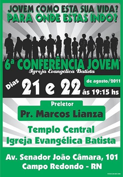 Cartaz da 6º Cconferencia Jovem IEB