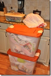 Fall Orange Plastic Bins