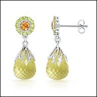 Lemon Petal Martini Drop Earrings