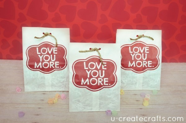 Love you more Valentine Bag Tutorial u-createcrafts.com