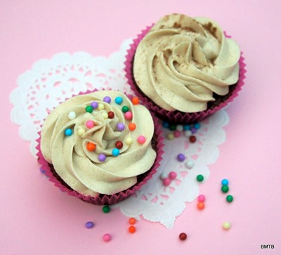 Choc cupcakes with cinnamon buttercream