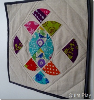 Ornate mini quilt - the quilting