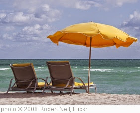 'Miami Beach - Umbrella, lounge chair & surf!' photo (c) 2008, Robert Neff - license: https://creativecommons.org/licenses/by/2.0/