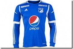 nueva camiseta de Millonarios 2012