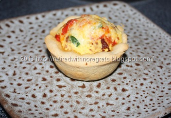 Breakfast Bacon N Egg Biscuit Cups served