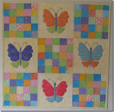 finished butterfly quilt