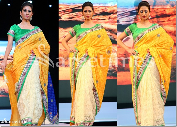 Yellow_and_Cream_Half_Saree