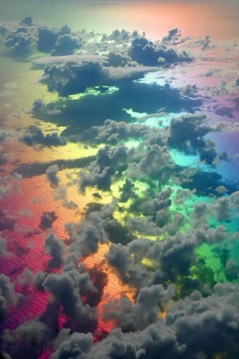 beautiful sceneries amazing photo world rainbow under cloud