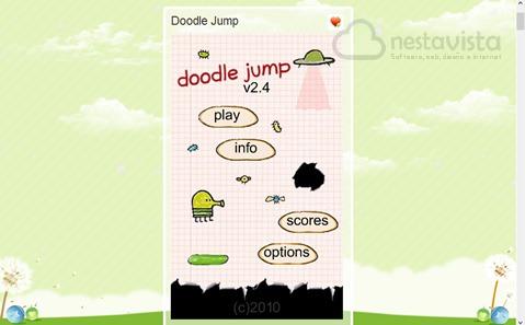 doodle jump para Chrome
