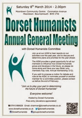 Dorset Humanists AGM 2014 poster
