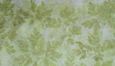 Unbekanntes Waldkraut Eco Print auf Seide