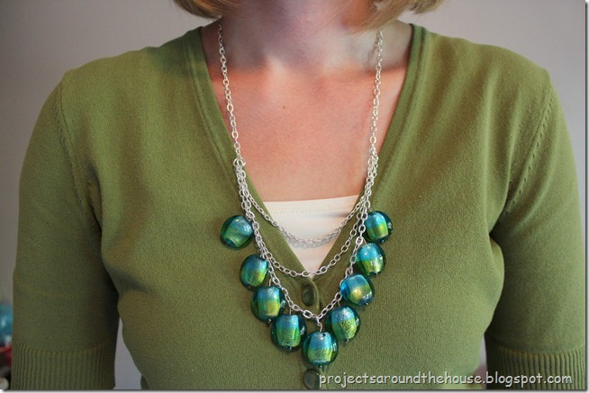 DIY drop necklace