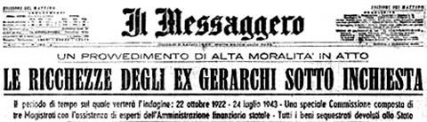 Messaggero Caduta Fascismo 1943