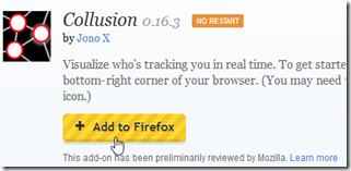 Collusion add on firefox