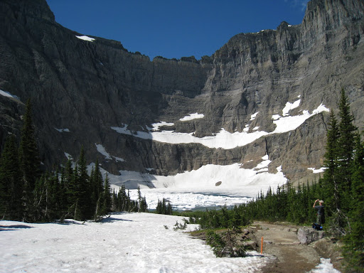 View into Iceberg Lake. Walls are approximately 2000' high.