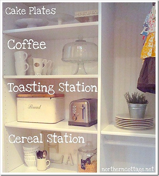 northern cottage kitchen stations