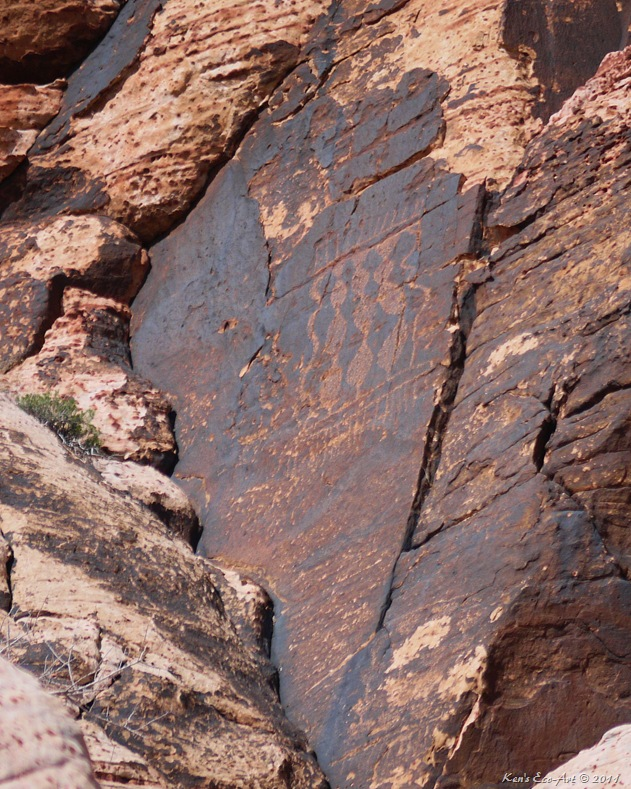 Kens Photo Gallery Red Spring Calico Basin Petroglyphs Summary