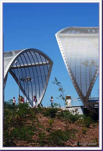 puente monumental de arganzuela - encuentro de tramos desde el sendero