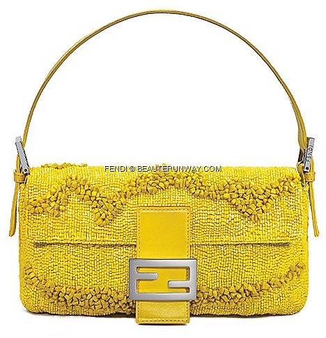 FENDI BAGUETTE GIALLA  Limited Re Editions by Silvia Venturini FENDI FALL WINTER 2012 island of Ponza, I admired the golden reflections of the sun on the beach at Chiaia di Luna and  waves gently moved by breeze