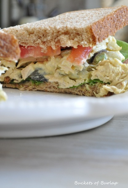rustic chicken salad sandwich