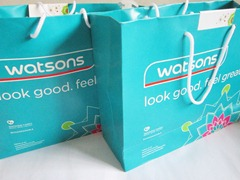 watsons shopping bags, bitsandtreats