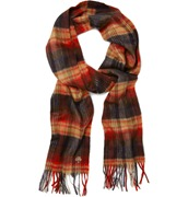 Mulberry Cashmere Plaid Scarf